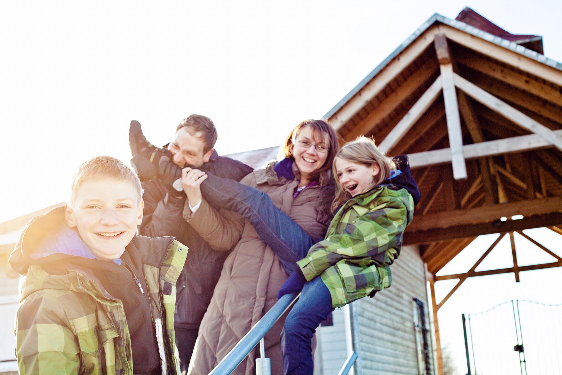 Familie am Strandbad am Kulkwitzer See Leipzig