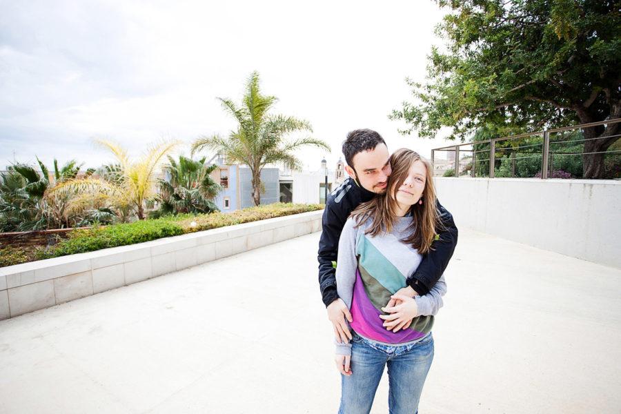 glückliches Paar in Spanien